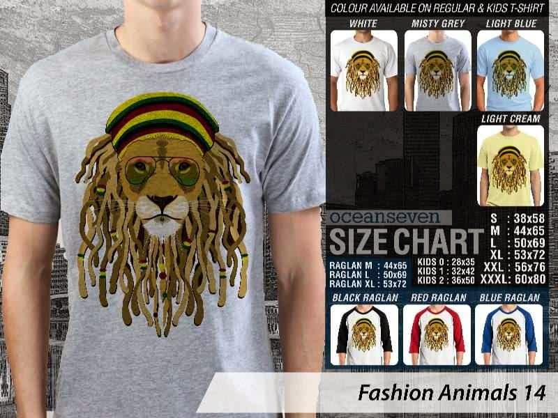 Kaos Fashion Animals 14 Binatang Singa Lion distro ocean seven