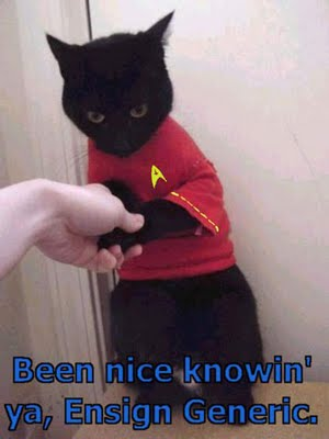 Oh noes, the red shirt of doom!