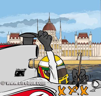 Льюис Хэмилтон едет на Хунгароринг брать третью победу на Гран-при Венгрии 2011 Cirebox