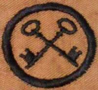 Girl Scout Badge 1917: Housekeeper. (Crossed Keys)  - DaisyLow.com Website designed n Memory of Eileen Alma Klos (1929-1974)
