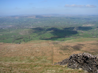 Chatburn and Downham from Pendle Hill