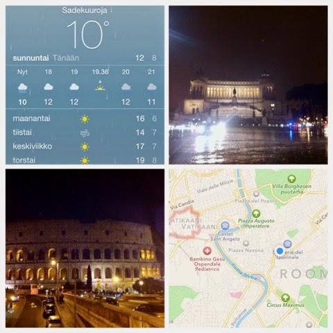map, rain, sää, weather, roma, rome, rooma, italia, piazza venezia, vittoriano, landmark, maamerkki, colosseum, tiber, joki, river, halki kaupungin, tevere,