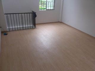 Hình ảnh sàn nhựa vân gỗ ở lầu 1