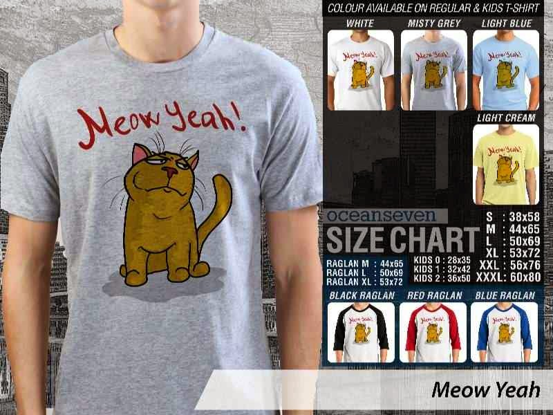 Jual Kaos 9Gag Lucu Meme Meow Yeah distro ocean seven