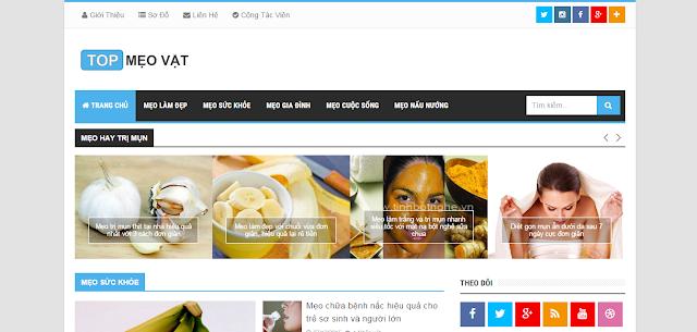 Template Blogspot tin tức, mẹo vặt chuẩn SEO