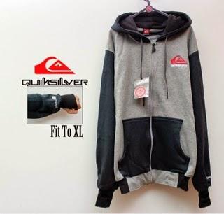 Jaket Quicksilver 07 Grey Black Finger Style Size XL