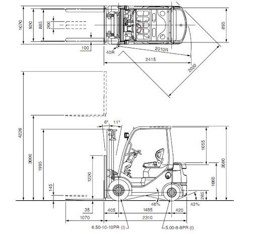 xe nang toyota 7FD18