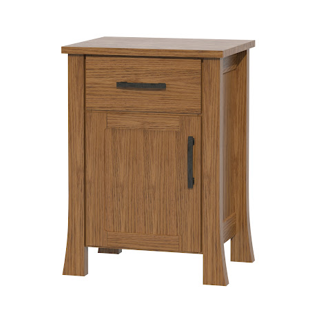 Matching Furniture Piece: Palermo Nightstand with Door, Medium Oak