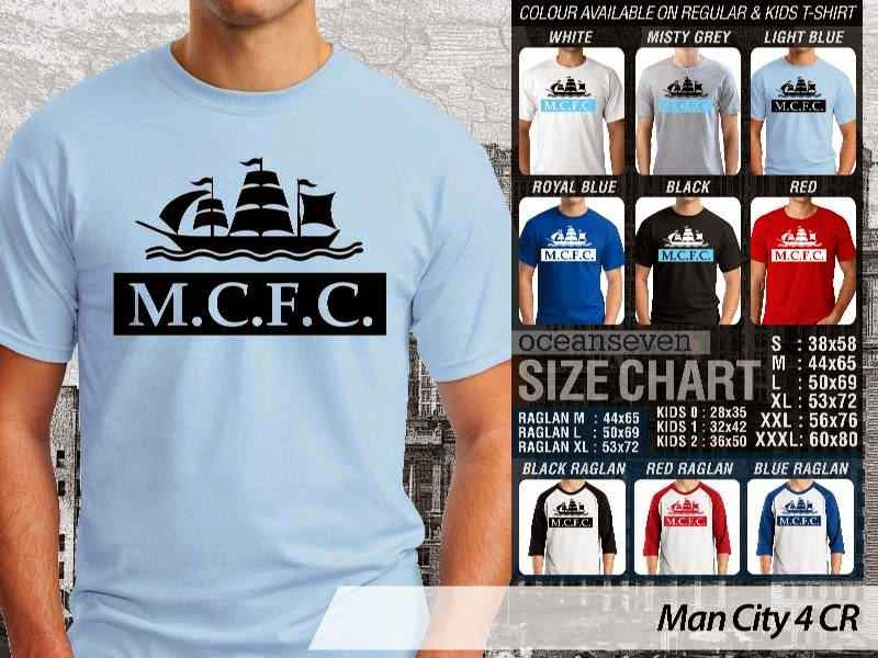 KAOS Man City Manchester City 4 Liga Premier Inggris distro ocean seven