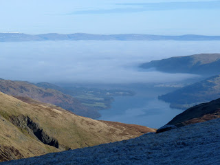 Zooming to Ullswater and the fog between the Lake District and the Pennines