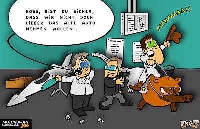 новый болид Mercedes W03 - комикс aleXstep