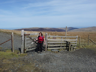 Anne at the gate on path to Little Man