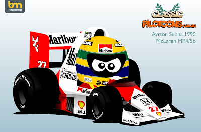 Айртон Сенна McLaren MP4-5b pilotoons