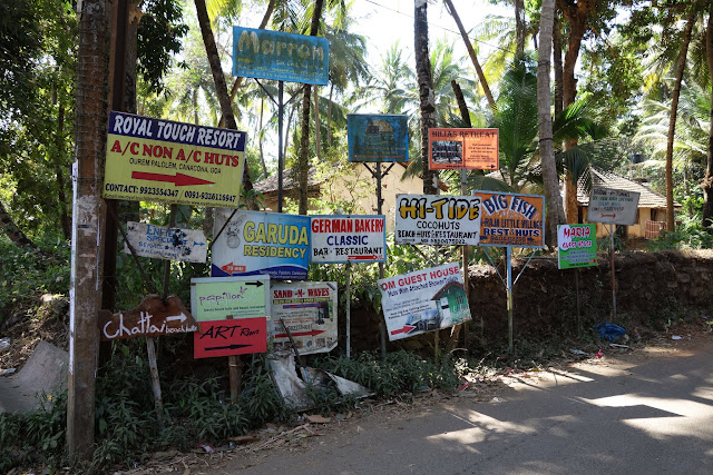 Signs pointing the way to Palolem.