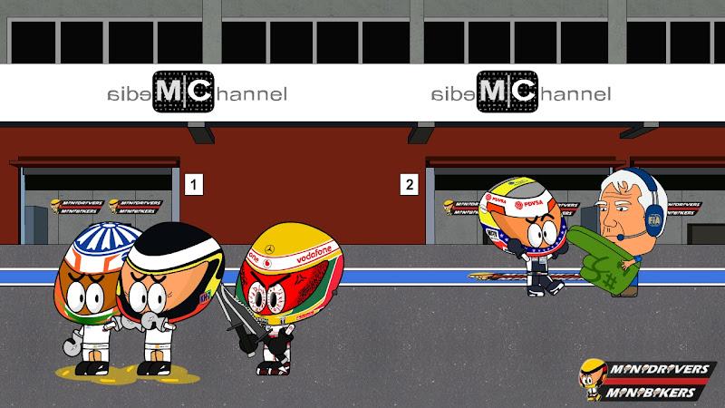 Пастор Мальдонадо на поуле Гран-при Испании 2012 Los MiniDrivers