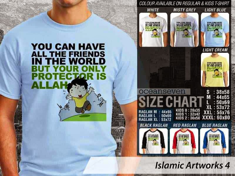 KAOS Muslim You can have all the friends in the world but your only protector is allah. Islamic Artworks 4 distro ocean seven