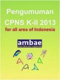 Pengumuman CPNS K-II 2013