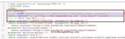code chuyển hướng cho blogpsot