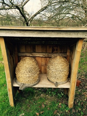 beehives at Weald and Downland Open Air museum