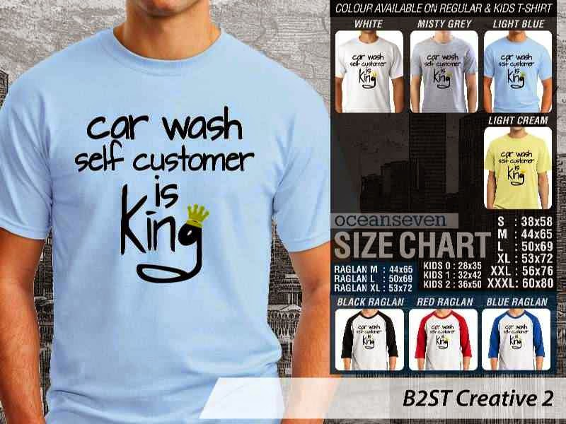 Kaos K Pop B2ST Creative 2 Boy Band Asal Korea Car Wash Self Customer is King distro ocean seven