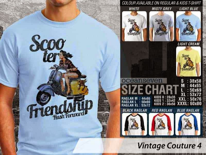 Kaos Vespa Scooter Friendship scooter Vintage Couture 4 distro ocean seven