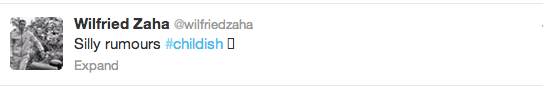 Screen+Shot+2013 10 01+at+18.42.00 Wilfried Zaha takes to Twitter to deny he is sleeping with David Moyes daughter