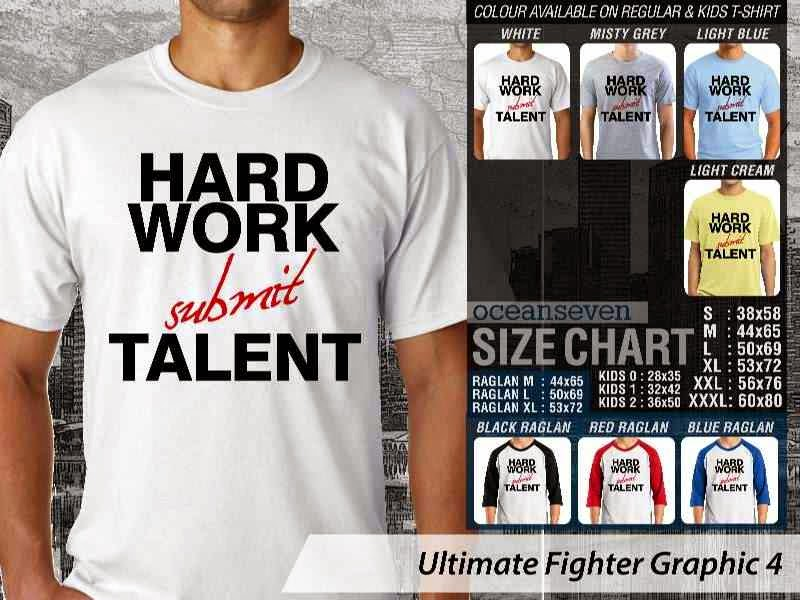 Kaos UFC Ultimate Fighter Work Hard Submit Talent Graphic 4 distro