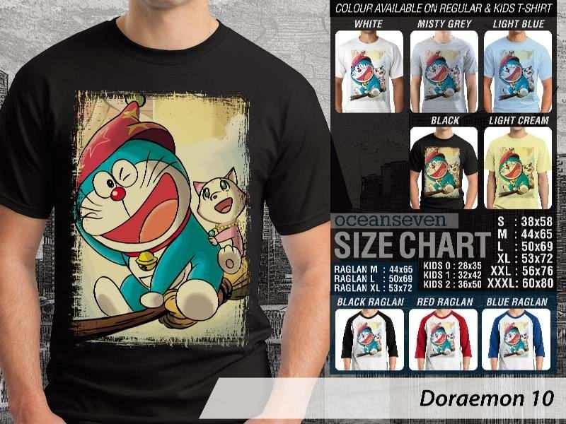 KAOS Doraemon 10 Manga Lucu distro ocean seven