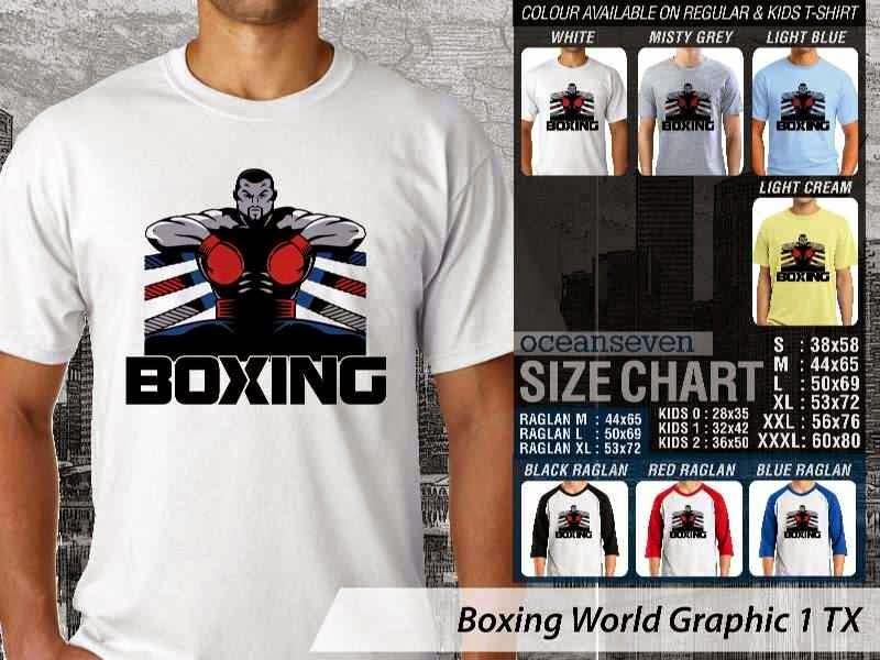 Kaos Olah Raga Sport Boxing World Graphic 1 distro ocean seven