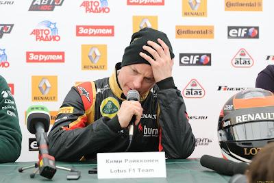 Кими Райкконен на пресс-конференции Гонки звезд в Москве 23 февраля 2013