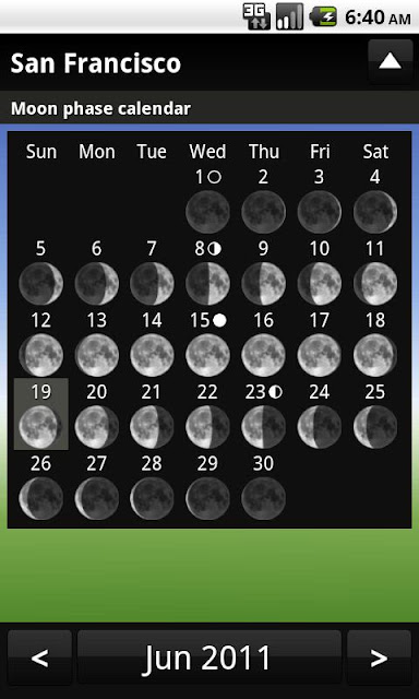 sundroid fases de la luna