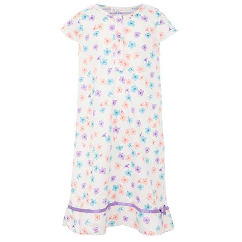 Đầm ngủ bé gái John Lewis hàng xuất Anh, made in vietnam, tay ngắn màu xanh.