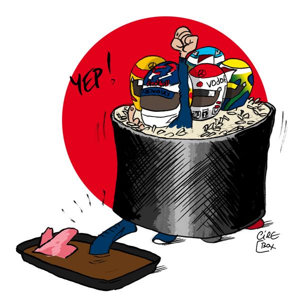комикс суши Cirebox по итогам квалификации на Гран-при Японии 2011