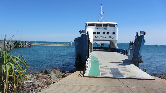 Kingfisher Bay Resort's ferry to Fraser Island.