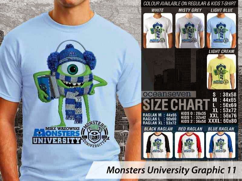 KAOS Monster University 21 Film Lucu distro ocean seven