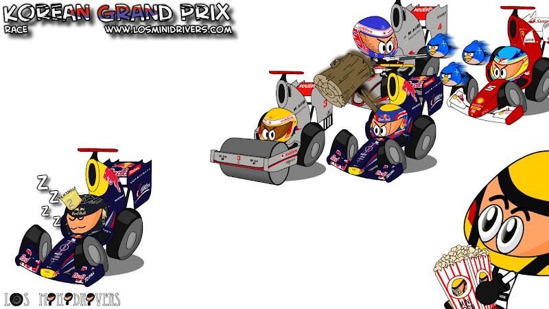 гонка Гран-при Кореи 2011 глазами Los MiniDrivers