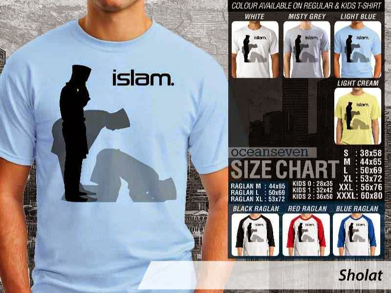 KAOS Muslim Sholat distro ocean seven