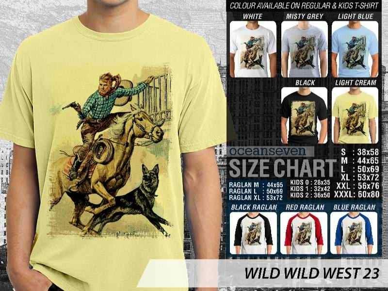 Kaos Cowboy Americana 23 Wild West distro ocean seven