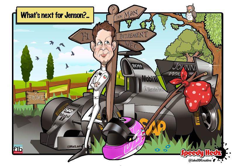 что дальше для Дженсона Баттона - комикс SpeedyHedz