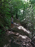 Meredith on Minnehaha Falls trail