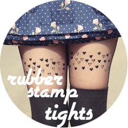 DIY Stamped tights