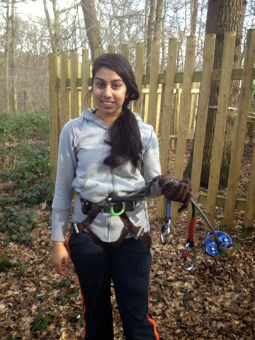 Getting strapped in for Go Ape! in London