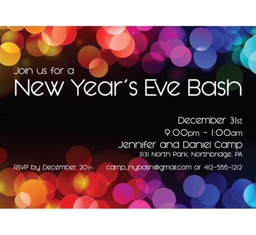 New Year Bash Invitation Merry Christmas And Happy New Year - New years eve party invitation templates free