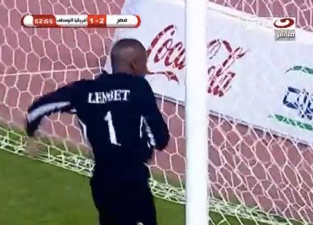 Screen%2BShot%2B2012 06 16%2Bat%2B12.57.41%2BAM Mad Meltdown: Central African Republic keeper Geoffrey Lembet goes boxing crazy on the goalpost