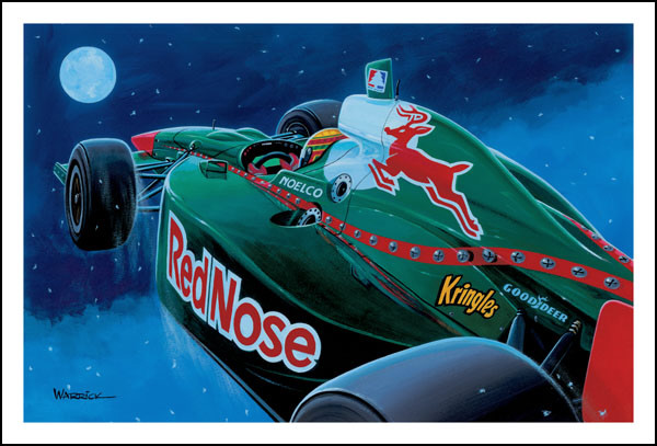 рисунок Red Bull - Red Nose с оленем