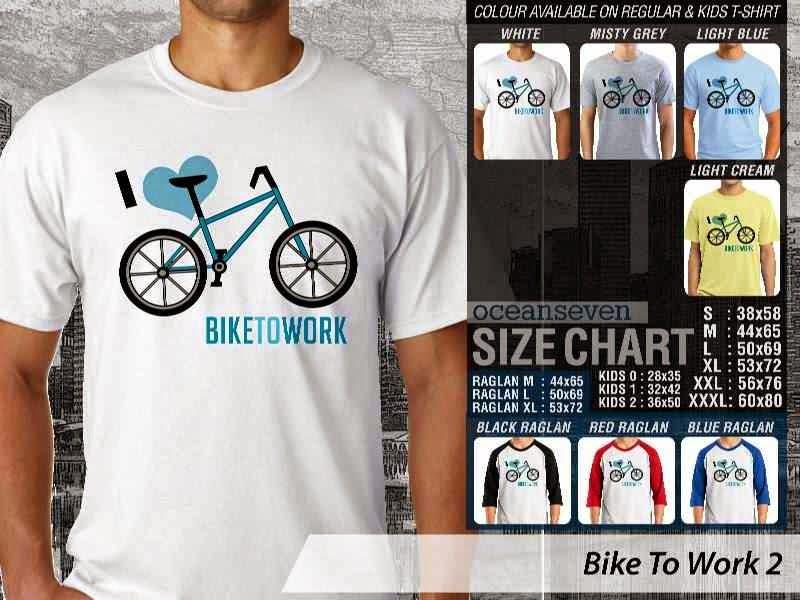 KAOS Bike To Work 2 Sepeda Lovers bicycle distro ocean seven