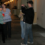 Miranda stops to take pictures with some fans on the way to the casino bar..afterwards one literally skipped off