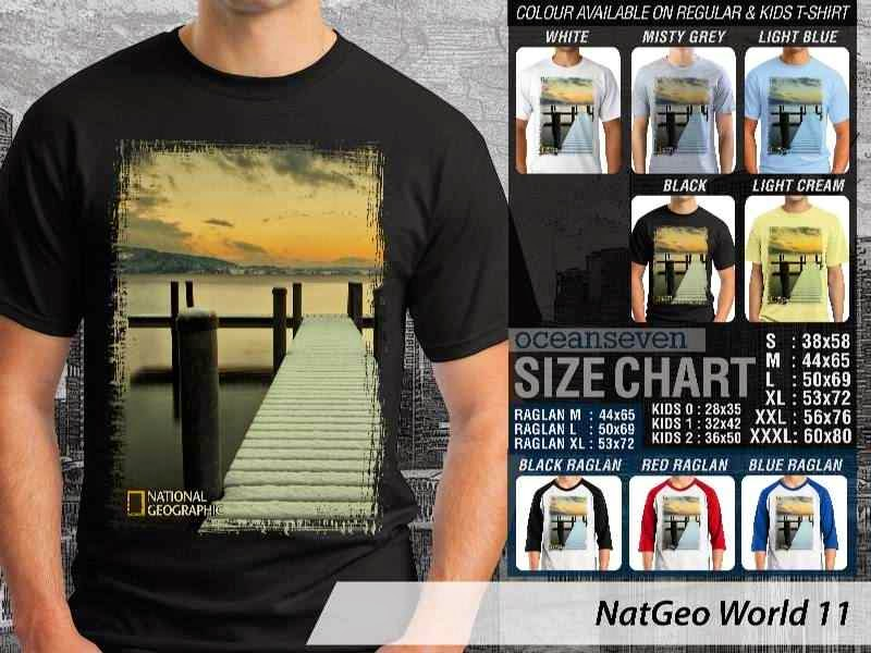 Kaos National Geographic NatGeo World 11 distro ocean seven
