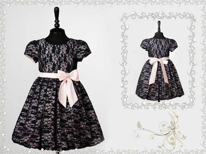 Сшить платье для девочки из гипюра своими руками