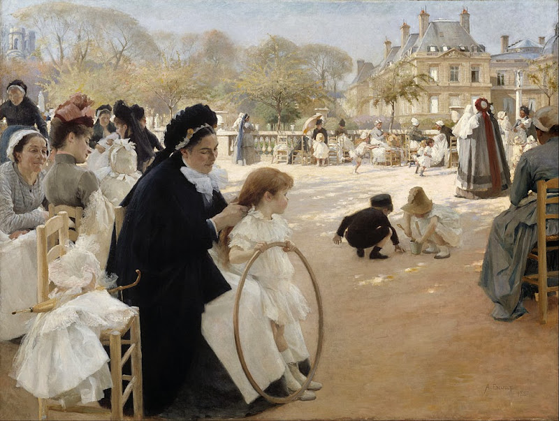 Albert Edelfelt - The Luxembourg Gardens, Paris - Google Art Project